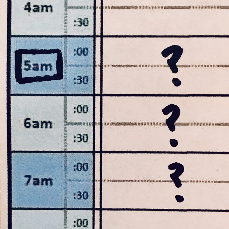 5am agenda