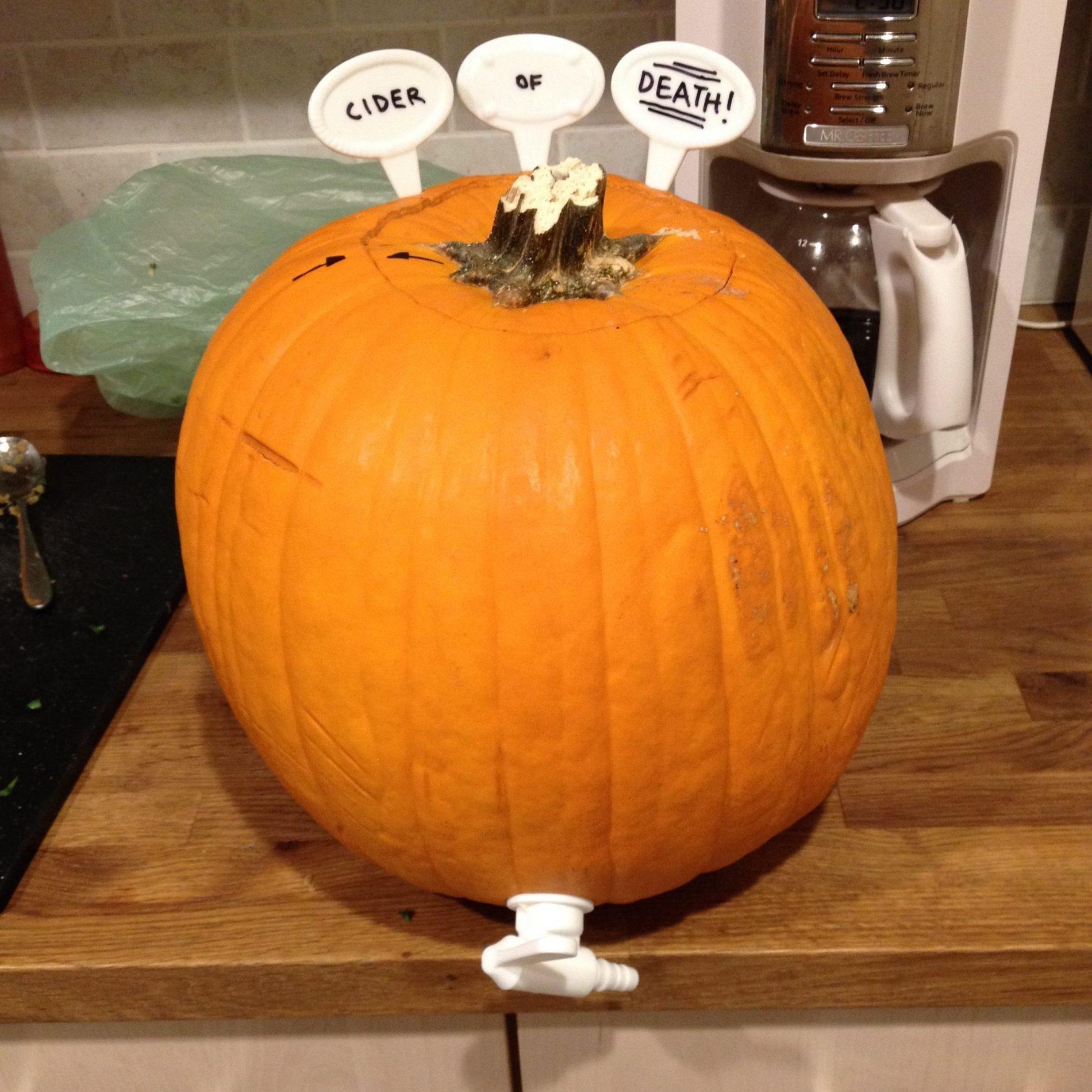 Pumpkin keg with spigot