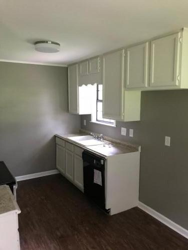 Kitchen cabinets finished in White