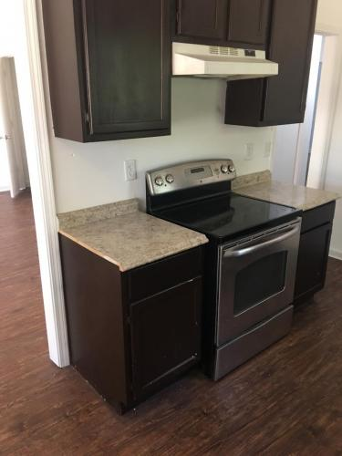 Unfinished cabinets and counters