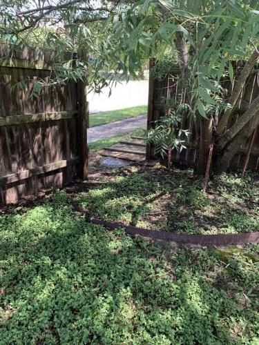 Fence section down