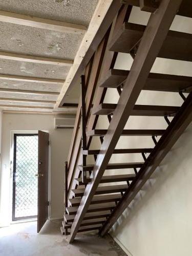 Stairs facing front door